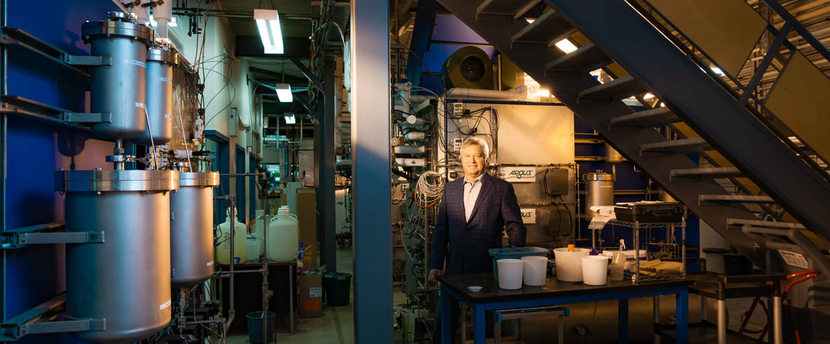 Portrait of Dr. Mike Dixon in his lab